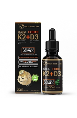 Naturalna Witamina K2 MK-7 + D3 Forte w Kroplach 30ml